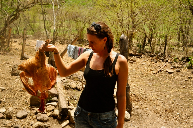 Me and my chicken. Dead (the chicken, not me)